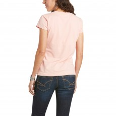 Ariat Women's R.E.A.L Sundown T-Shirt (Pure Peach)