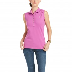Ariat Women's Sleeveless Prix Polo 2.0 (Meadow Mauve)
