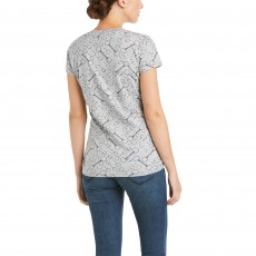 Ariat Women's Snaffle T-Shirt (Light Heather Grey)
