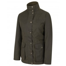 Hoggs of Fife Ladies Caledonia Wax Jacket (Antique Olive)