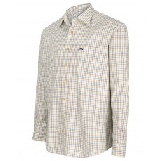 Hoggs of Fife Men's Inverness Cotton Tattersall Shirt (Wine/Blue/Green)