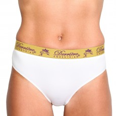 Derriere Equestrian Women's Performance Panty (White)