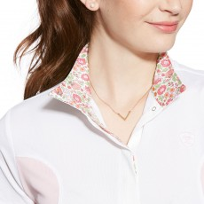 Ariat Women's Aptos Liberty Show Top (White/Blossom)