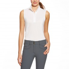 Ariat Women's Aptos Sleeveless Show Shirt (White)