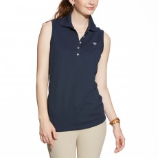 Ariat Women's Prix Sleeveless Polo (Navy Eclipse)