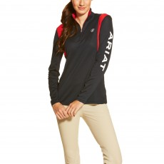 Ariat Women's Team Sunstopper Quarter Zip Top (Team Navy)