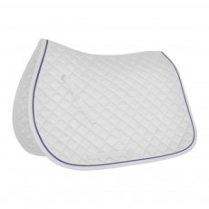 Mark Todd Piped Saddlepad (White & Navy)