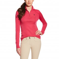 Ariat Women's Cadence Wool Quarter Zip (Dahlia)