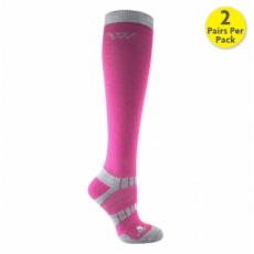Woof Wear Winter Riding Socks (Berry)