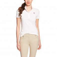 Ariat Women's FEI Aptos Show Top (White)