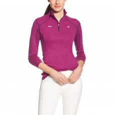 Ariat Women's FEI Cadence Wool Quarter Zip (Purple)
