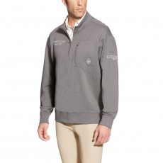 Ariat Men's FEI World Cup Tek Fleece Zip (Charcoal Heather)