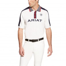 Ariat FEI Men's Team Polo (White)