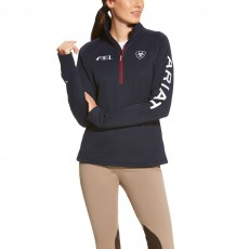 Ariat Women's FEI Tek Team Quarter Zip (Navy)