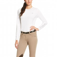 Ariat (Sample) Women's Cambria Logo Crew (White)