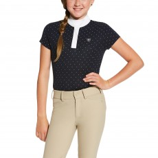 Ariat (Sample) Kids' Aptos Show Top (Navy Dot)