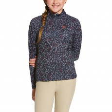Ariat Girl's Sunstopper Top (Navy Fox Print)