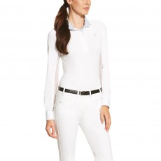 Ariat Women's Marquis Show Top (White Claude)