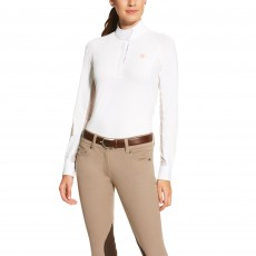 Ariat Women's Marquis Show Top (White/Constantine Liberty)