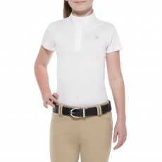 Ariat Girl's Aptos Show Shirt (White)
