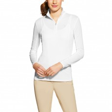 Ariat Women's Sunstopper 1/4 Zip (White)