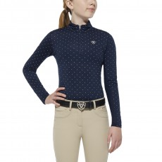 Ariat Girl's Sunstopper Top (Navy Dot)