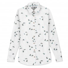 Musto Women's Country Printed Shirt (White Kingfisher)