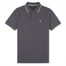 Musto Men's Miles Tipped Polo (Charcoal)