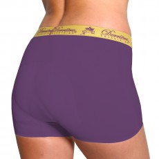 Derriere Equestrian Women's Performance Padded Shorty (Purple)