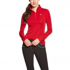 Ariat Women's Cadence Wool Quarter Zip (Rouge)
