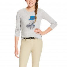 Ariat Girl's Gracious Tee (Heather Grey)