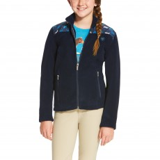 Ariat Girl's Basis Full Zip (Navy)