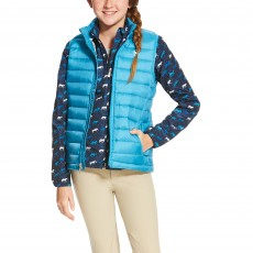 Ariat Girl's Ideal Down Vest (Barrier Blue)