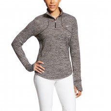 Ariat Women's Gridwork Half Zip (Malbec)