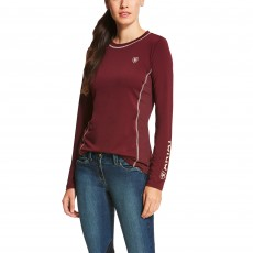 Ariat Women's Cambria Logo Long Sleeve (Malbec)