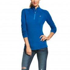 Ariat Women's Cadence Wool Quarter Zip (Rush Blue)