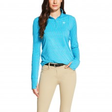 Ariat Women's Lowell Quarter Zip (Barrier Blue)