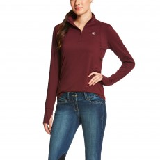 Ariat Women's Lowell Quarter Zip (Malbec)
