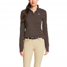Ariat Women's Lowell Quarter Zip (Ganache Running Horse)