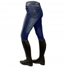 Mark Todd Women's Dark Denim Breeches (Blue Jean)
