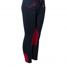 Mark Todd Kid's Euro Seat Breeches (Navy & Red)