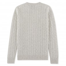 Musto Women's Hollie V-Neck Cable Knit (Antique Sail White)