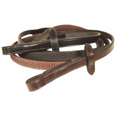 Mark Todd Soft Hold Rubber Reins (Havana)