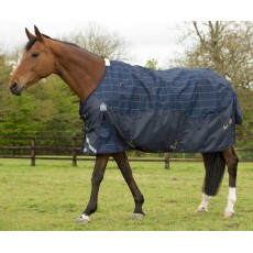 Mark Todd Lightweight Turnout Rug Plaid (Navy/Beige/Royal)