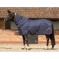 Mark Todd Ultimate Heavyweight Stable Rug Plaid (Navy/Beige/Royal)