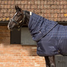 Mark Todd Ultimate Heavyweight Stable Neck Cover Plaid (Navy/Beige/Royal)