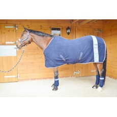JHL Paisley Print Fleece Rug (Sky Blue & Navy)