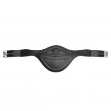 Mark Todd Deluxe Leather Elasticated Stud Girth (Black)