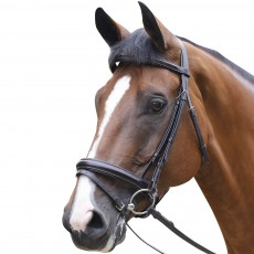 Mark Todd Performance Patent Piped Flash Bridle (Havana)