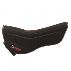 Mark Todd Airway Grip Tech Half Pad (Black)